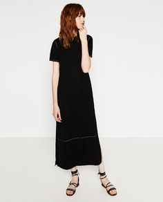 Image 1 of STUDIO TOP-STITCHED DRESS from Zara