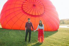 Photographer Feature: Unique hot air balloon engagement photo shoot by Lauren Fair - Wedding Party