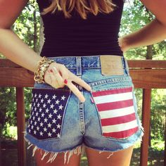 american flag shorts for the 4th #diy #america