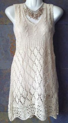 Dress #Knitted #cotton #yarn from Chile