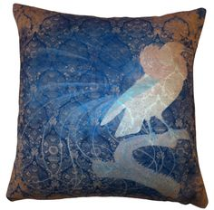 Kerrie Brown - Cushion - Faded bird in Blue, $120.00 (http://www.kerriebrown.com/cushions/faded-birds/cushion-faded-bird-in-blue/)