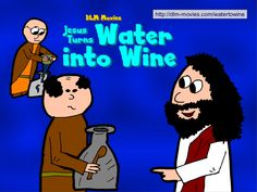John 2:1-11.     Jesus preforms his first miracle, turning water into wine.   http://dlm-movies.com/watertowine