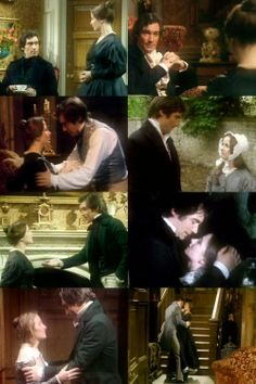 Zelah Clarke (Jane Eyre) & Timothy Dalton (Mr. Edward Fairfax Rochester) - Jane Eyre (TV Mini-Series, BBC, 1983) #charlottebronte
