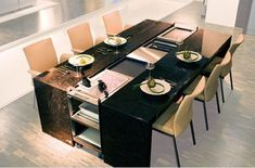 Excellent idea for a dining table ! Thank you Poggenpohl for this design !