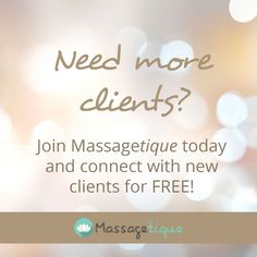 Are you a massage therapist looking to increase your clientele? Join today for free and let Massagetique do the work for you. https://www.massagetique.com/members/join-us/