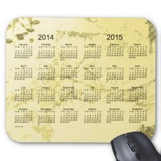 Old Yellow Paint 2014-2015 2 Year Calendar Mouse Pad Design from Calendars by Janz $12.35