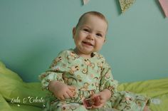 Lulu & Celeste: Cute ruffled PJ's from Once Upon a Sewing Machine