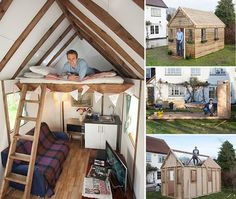 A British company has begun selling a flat-pack mini-house, which is said to be as easy to assemble as an Ikea bookcase - Home in a box costs just But is it really as easy to build as an IKEA bookcase? We gave one brave dad a week to try. Low Budget House, Home Budget, Ikea Bookcase, Shed Homes, Tiny Homes, Tiny Spaces, Tiny Living, Little Houses, Play Houses