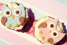 Owl cupcakes... So sweet! #owl #cupcakes