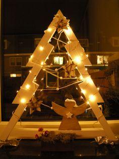 Kerst - houten kerstboom