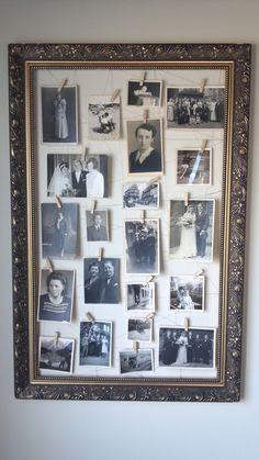vintage frame + old family pictures = <3