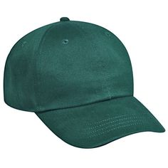 Low fitting, solid color, brushed cotton twill six panel pro style cap. 100% Cotton. Features low profile, unstructured soft crown and adjustable hook and loop closure. Best Seller.