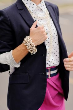 Deconstruct the Suit | Stella & Dot Lucia Pearl Bracelet #StellaDotStyle | Stella & Dot. Find it at www.stelladot.com