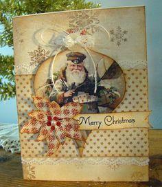 handmade vintage christmas cards - Google Search