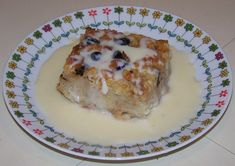 from BellaOnline:  Classic Southern Bread Pudding with Whiskey Sauce. My-oh-My