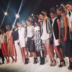 """""""The absolutely stunning Brandon Sun spring/summer 2014 collection #nyfw #trewproductions #chrisnina #mbfw"""" by ninaalovesyou, Wednesday, September 11, 11:58am"""