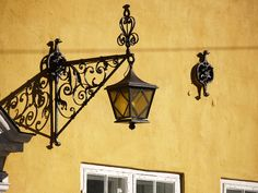 Old lamp on a wall