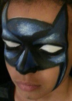 Face painting Batman! More