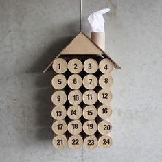 Make a Christmas calendar from toilet paper rolls and cardboard with this tutorial. (Maybe a trip to the dollar store for some more kid-friendly gift options).