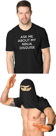 670ed5e56 Turn into a Ninja Flip T Shirt Cool Fighter Disguise Funny Shirts