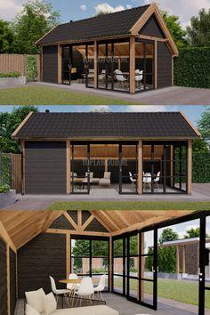 Backyard Pavilion, Backyard Gazebo, Backyard Sheds, Backyard Patio Designs, Outdoor Pergola, Outdoor Rooms, Diy Pergola, Garden Cabins, Garden Buildings