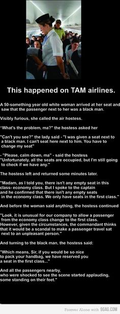 Faith in humanity - restored. That airline attendant, she's a great person. Wow.