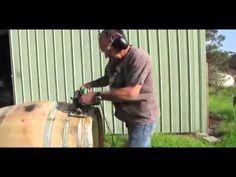 Wine Barrel Smoker - YouTube