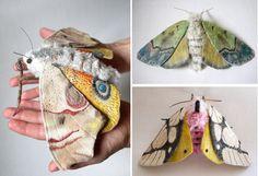 Yumi Okita's textile moths.