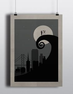 Skyworld N.Y. The Nightmare Before Christmas posters. Dimensions A3. this posters are paper digital printed.    If you are interested in other