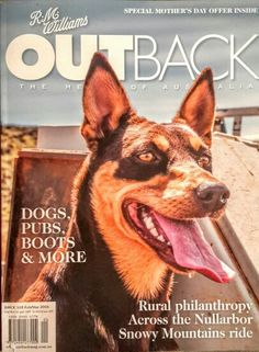 Front cover of R.M. William's outback Magazine March 2016 Australian Kelpie ❤❤❤❤❤