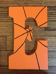Painted letter, basketball