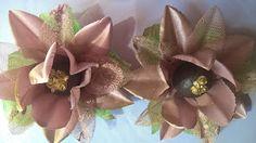 Forminhas para doces finosObra de Arte: Forminha flor de maracujá,cetim com renda