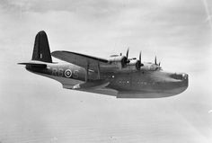 Allied Aircraft: A Short Sunderland Mk II flying boat of 10 Squadron, Royal Australian Air Force, used for reconnaissance and anti-U-boat duties