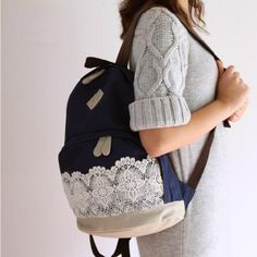 Feather Pattern Backpack Gold Chain School Bag only $33.99 ...