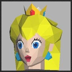 Super Mario - Princess Peach Head Papercraft Free Template Download - http://www.papercraftsquare.com/super-mario-princess-peach-head-papercraft-free-template-download.html