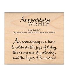 MSE My Sentiments Exactly Anniversary Wishes Mounted Stamp 2.5''x3''