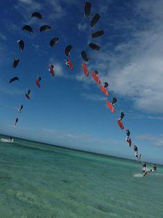 More kiteboarding