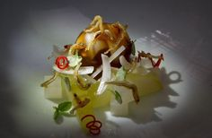 The caramelized Anchovy with Lily Bulb at Benu restaurant