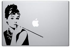 Welcome, Audrey Hepburn Decal Sticker This decal can be applied to all sizes of MacBook. From 11 Macbook Air to 17 Macbook pro and I can also
