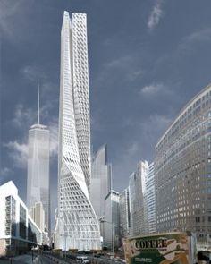 Edgar Street Towers, Lower Manhattan, IwamotoScott, futuristic architecture, American architecture
