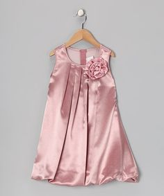 Take a look at this Mauve Rose Bubble Dress - Toddler & Girls on zulily today!