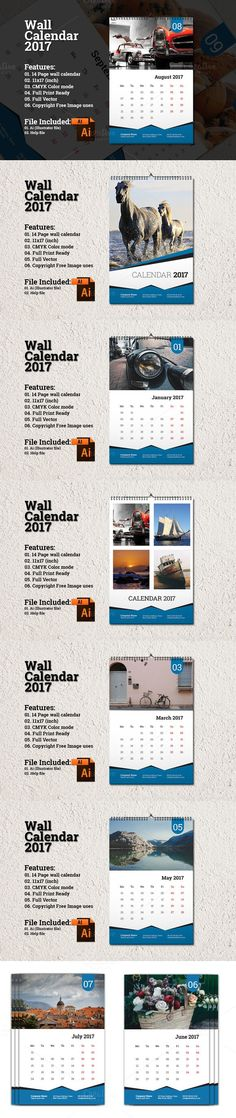 Wall Calendar Template 2017 A3 Stationery Templates 1200