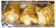 Delicias Para Celiacos: Caracolas de crema Sin Gluten, Food, Conch Shells, Eggs, Cream, Gluten Free, Glutenfree, Essen