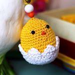 crochet poussin amigurumi  easter