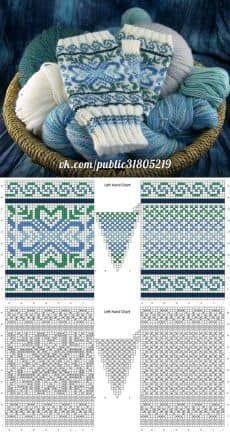 Knitting fair isle socks fingerless mitts ideas for 2019 Fair Isle Knitting Patterns, Fair Isle Pattern, Knitting Charts, Knitting Socks, Knitting Designs, Knitting Stitches, Hand Knitting, Knitting Tutorials, Hat Patterns