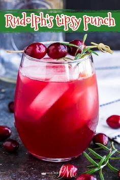 RUDOLPH'S TIPSY PUNCH is a festive holiday vodka drink. This Christmas cocktail recipe is great for party entertaining and it can easily be made kid-friendly.