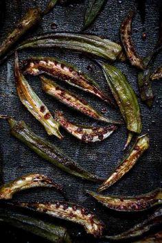 Low Carb Keto Okra Recipe - Roasted Okra Fries