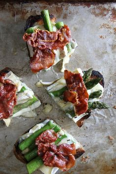 Asparagus, Crispy Prosciutto and Brie Tartines by Heather Christo