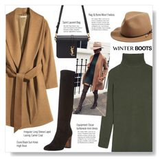 #winterboots by brccz on Polyvore featuring polyvore Equipment Dune Black Yves Saint Laurent rag & bone polyvoreeditorial polyvoreset