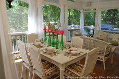"""Like the seating arrangement. Re: cost to build (in Atlanta in 2008: """"the cost to add on a 14′ x 18′ screened-in porch with two adjacent decks measuring approximately 12′ x 12′ and 8′ x 26′ was around $23,000-24,000. - See more at: http://betweennapsontheporch.net/screened-in-porch-how-much-do-they-cost-to-build/#sthash.sDwfJb5T.dpuf"""""""